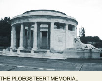 PLOEGSTEERT Memorial, Great War Ypres France